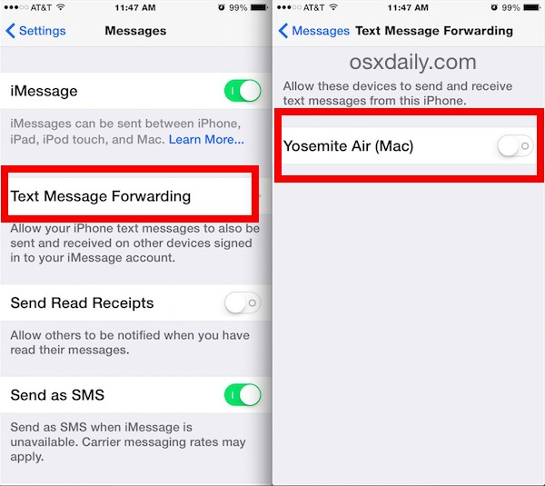 can you forward text messages to another iphone how to send amp receive text messages from mac with sms 8627