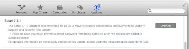 Safari 8.0.1 and Safari 7.1.1 updates available for OS X