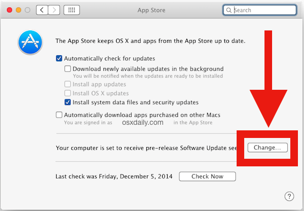 Stop OS X Beta software showing up in the App Store