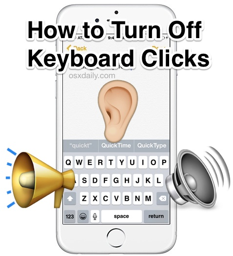 Turn off keyboard click sounds on the iPhone