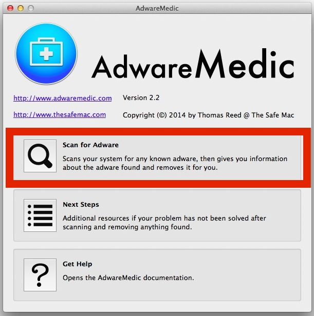 AdwareMedic will scan and detect, and remove, adware in Mac OS X