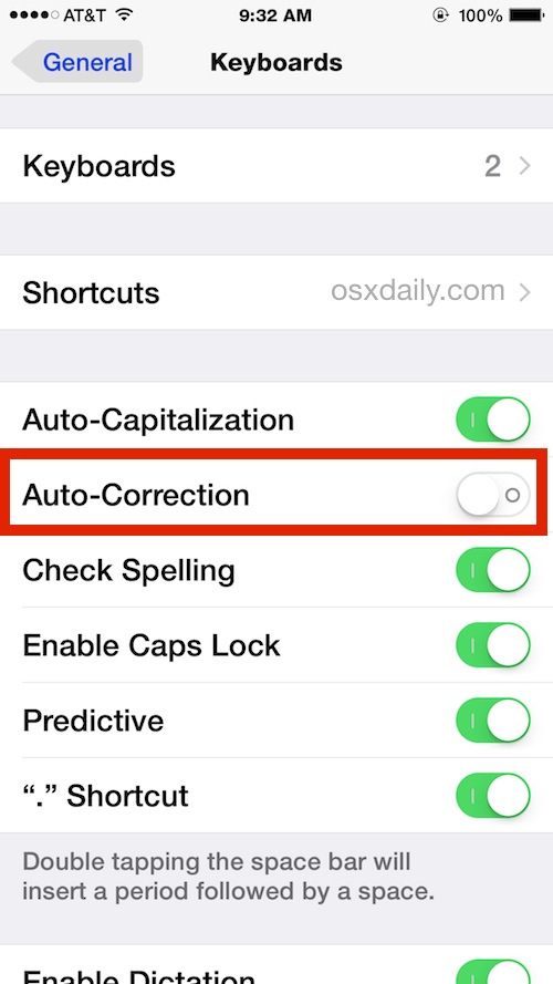 how to turn off autocorrect on iphone how to disable auto correct on iphone completely 20385