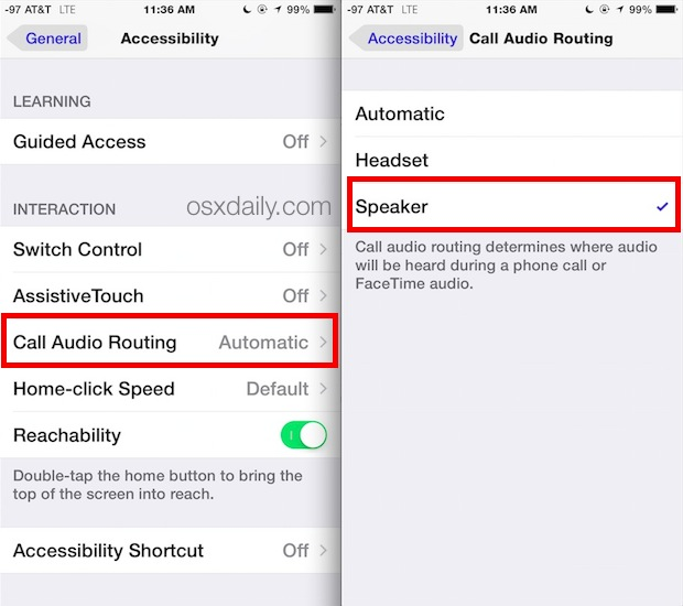 Enable Speaker phone for all calls by default on iPhone