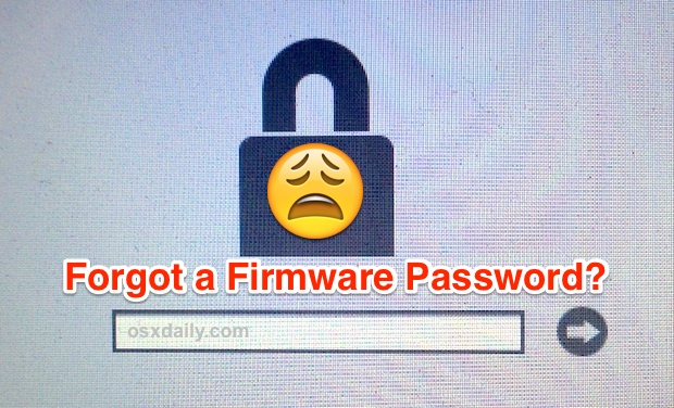 What to do if you forget a Mac Firmware password