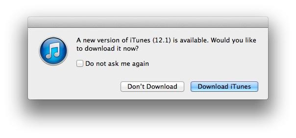 iTUnes 12.1 for OS X Mavericks