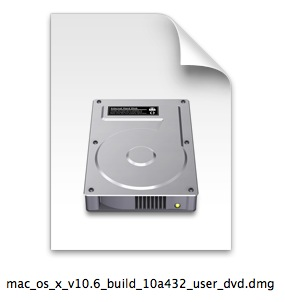 A disk image created of a DVD image