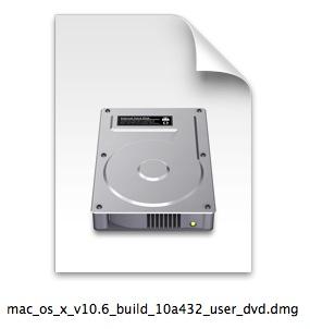 Mac OS X Snow Leopard DVD image