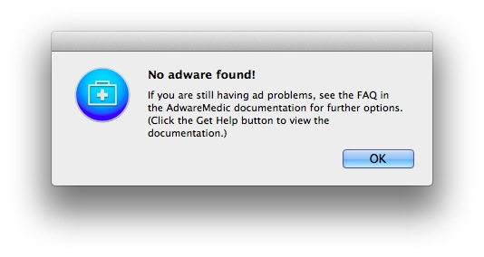 No adware found on a clean Mac