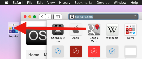 Remove icons from the Safari for Mac Bookmarks panel