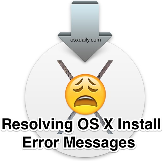 Resolving Error Messages in OS X Install