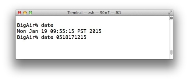 Set the date and time manually in OS X to circumvent error messages during Mac OS X install