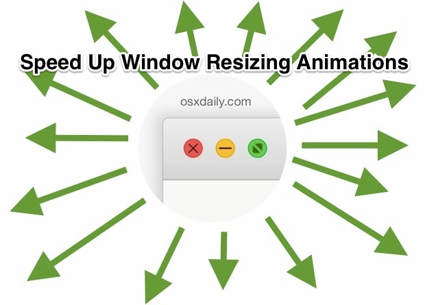 Speed Up Window Resizing Animations in Mac OS X