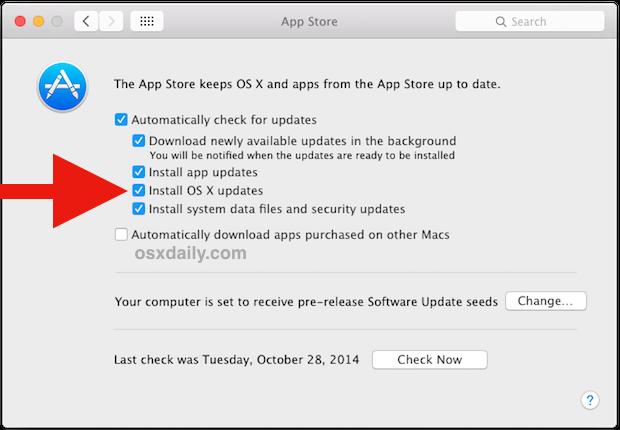 Adjusting automatic OS X update behavior