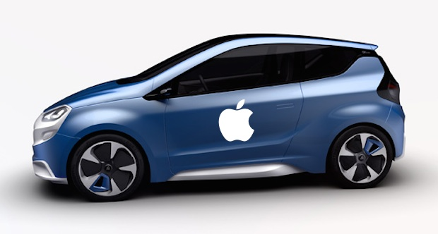 Apple Car mockup with a Magna Steyr concept