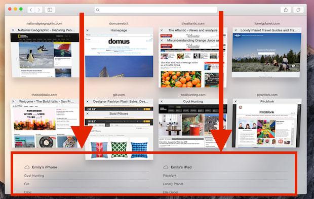 iCloud Tabs in Mac Safari
