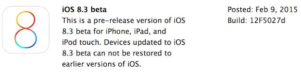 iOS 8.3 beta 1