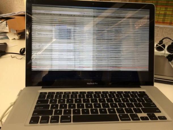 MacBook Pro with GPU failure picture