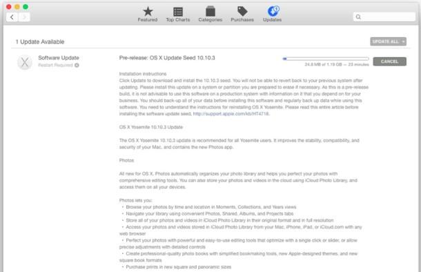 OS X 10.10.3 Beta 1 with Photos app