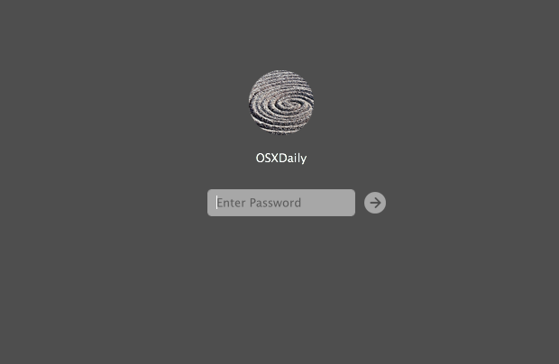 An OS X Login Screen