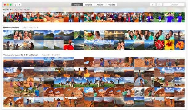 The standard Photos app GUI looks a lot like iOS