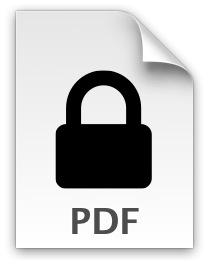 Removing a password from a protected PDF file