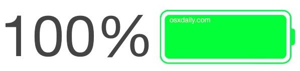 Show battery percentage remaining on iPhone, iPad