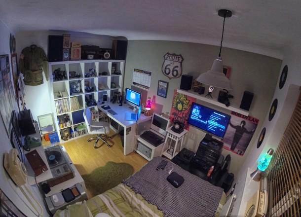 Vintage Mac setup, full room office