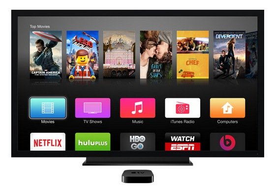 Apple TV various streaming video options