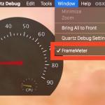 Enable the FrameMeter FPS monitor in OS X Quartz Debug tool
