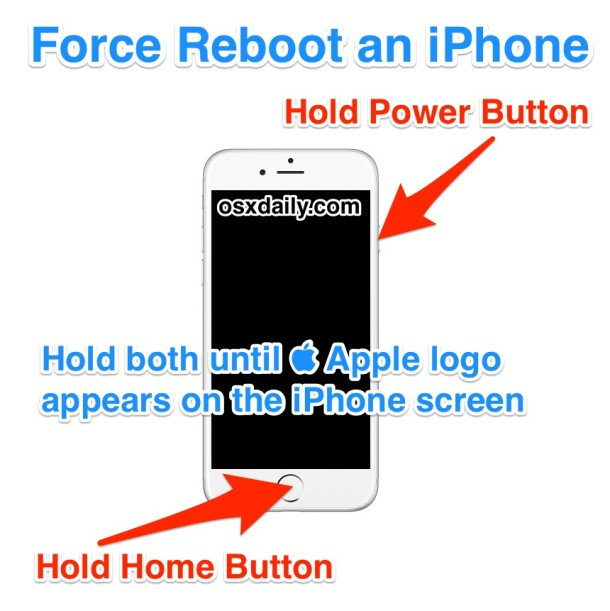 How to Force Reboot an iPhone