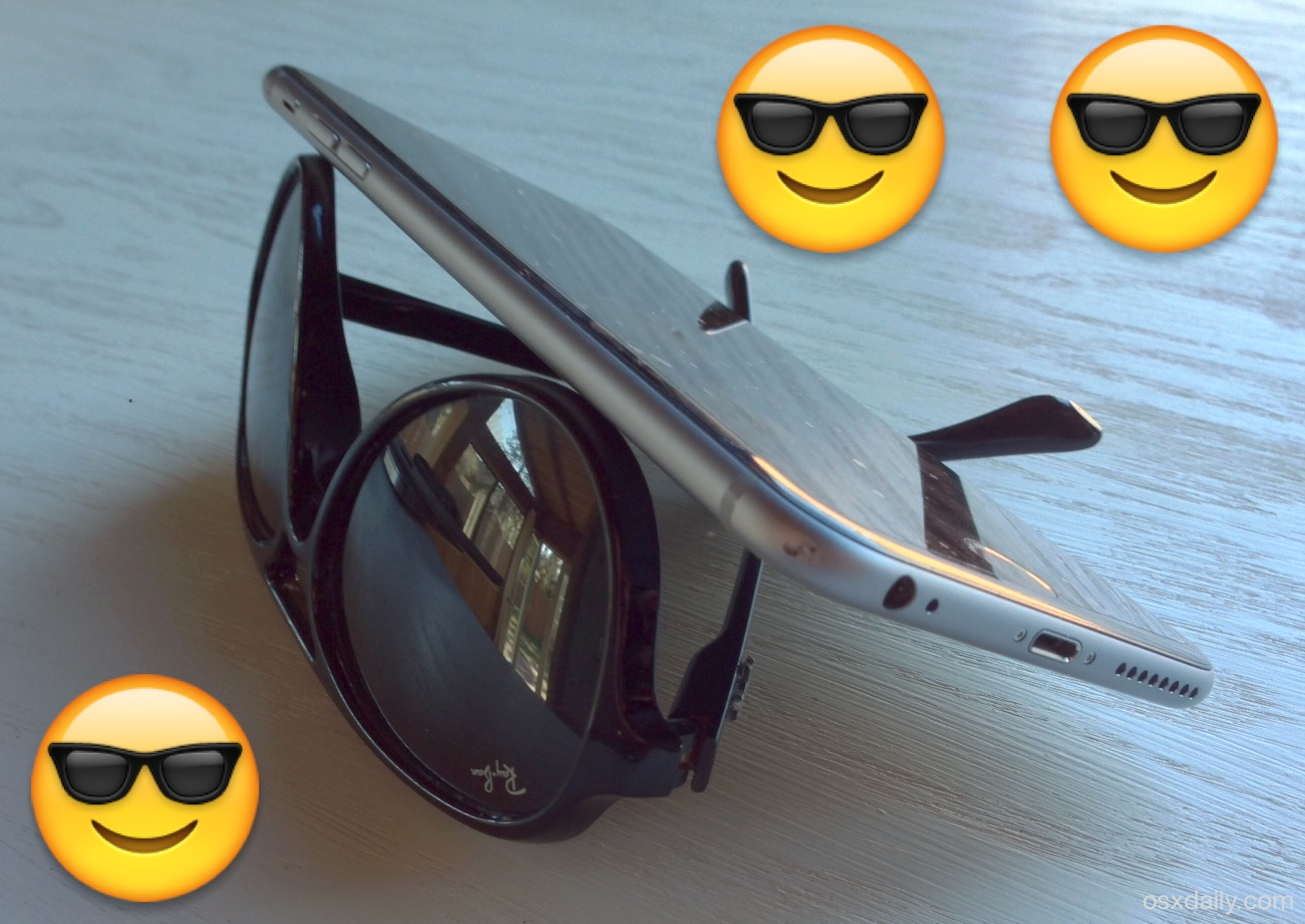 An instant iPhone stand with sunglasses, wow