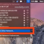 Join a hidden wi-fi network from Mac OS X