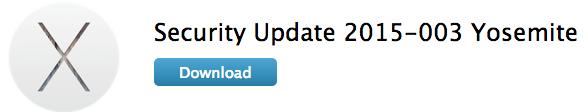 OS X Yosemite Security Update 2015-003