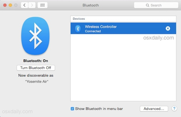 Playstation 4 Controller in Mac OS X