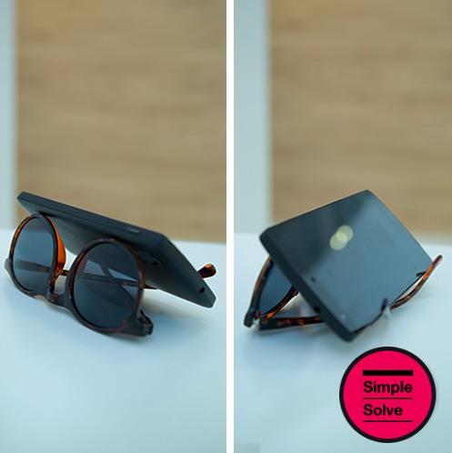 Sunglasses as Phone stand from Kooda