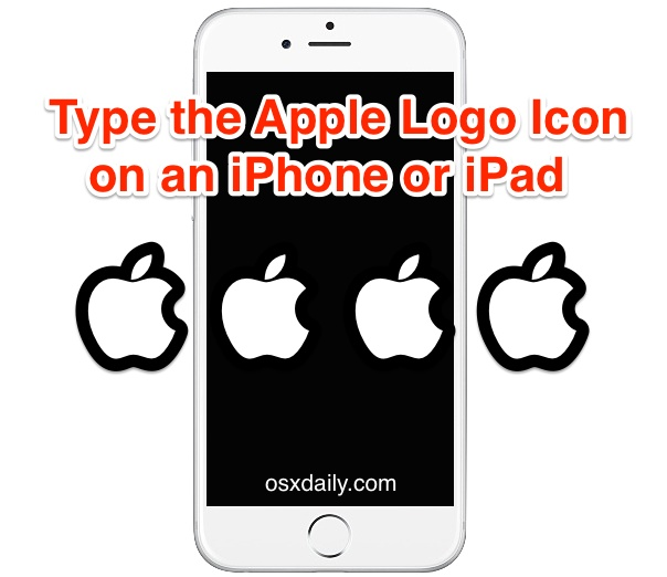 Type an Apple Logo icon in iOS