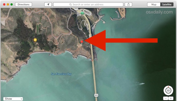 Viewing the exact location a photo was taken with Preview in Mac OS X