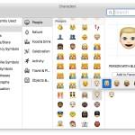 Diverse skin tone emoji in Mac OS X