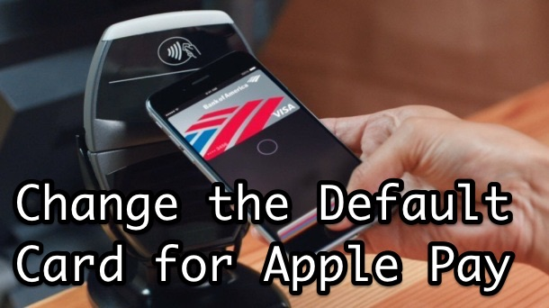 Change the default Apple Pay card on iPhone