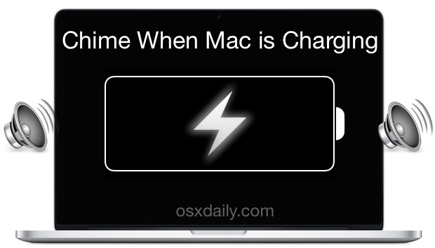 Play a chime sound effect when MacBook Pro is charging