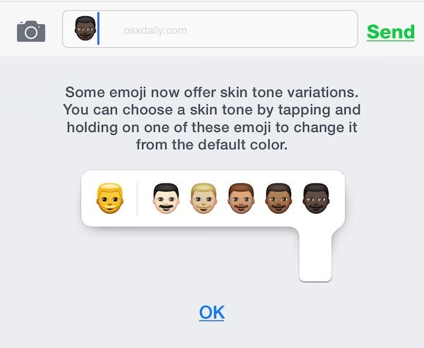 The Emoji skin tone variation explainer for iOS