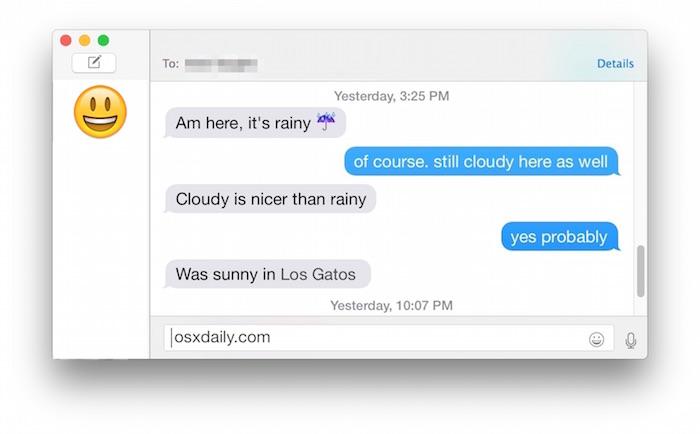 Facebook messenger in Mac OS X Messages app