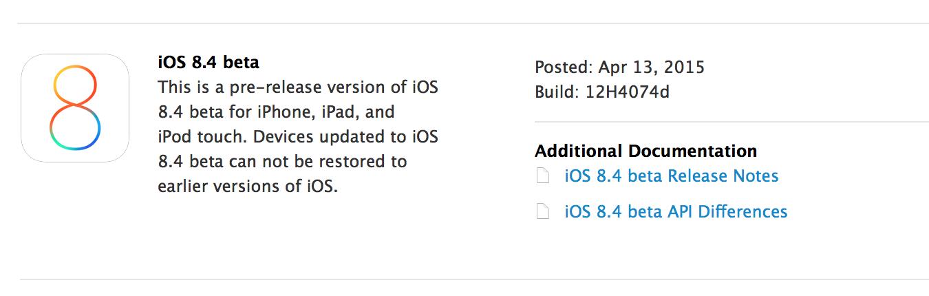 iOS 8.4 beta 1