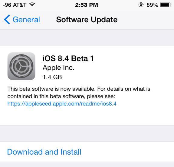 iOS 8.4 public beta 1