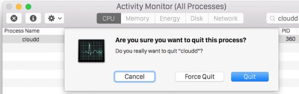 kill the cloudd process to force it to refresh
