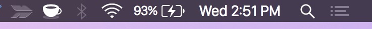 The charging indicator in Mac menu bar of Mac OS X