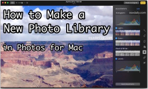 How to make a new photo library in Photos for Mac OS X
