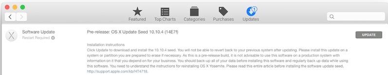 OS X 10.10.4 Beta 1