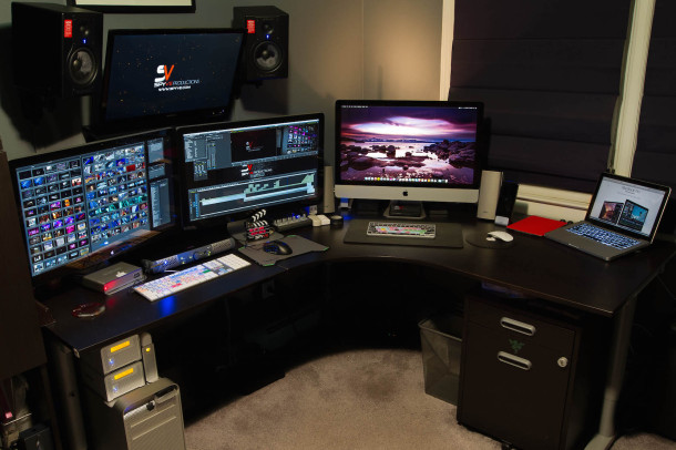 Video producer video editing Mac workstation