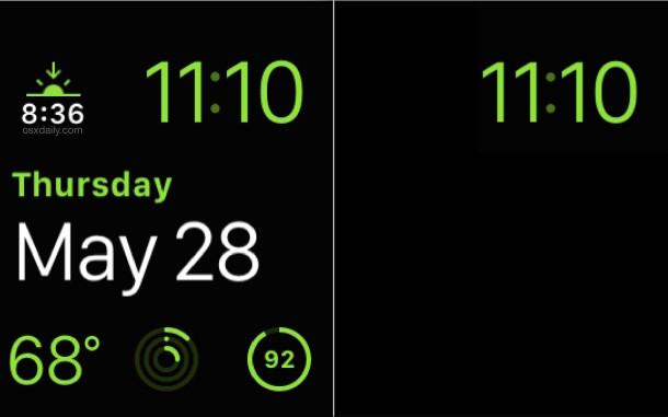 Apple Watch Modular vs Apple Watch Power Reserve display